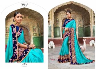 SAROJ SAREE ASHIYANA BEAUTIFUL PART WEAR INDIAN SAREE CATALOG IN WHOLESALE BEST RATE BY GOSIYA EXPORTS SURAT (4)