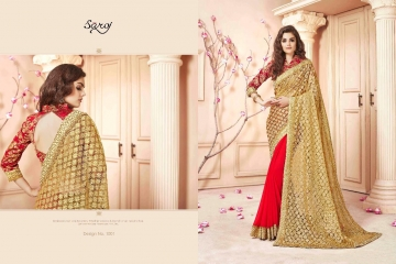 SAROJ SAREES CINDRELLA DESIGNER PARTY WEAR SAREES COLLECTION WHOLESALE BEST RATE BY GOSIYA EXPORTS SURAT (1)