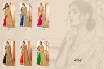 SAROJ SAREES CINDRELLA DESIGNER PARTY WEAR SAREES COLLECTION WHOLESALE BEST RATE BY GOSIYA EXPORTS SURAT (13)