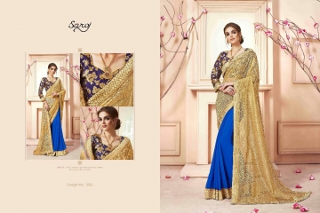 SAROJ SAREES CINDRELLA DESIGNER PARTY WEAR SAREES COLLECTION WHOLESALE BEST RATE BY GOSIYA EXPORTS SURAT (8)