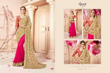 SAROJ SAREES CINDRELLA DESIGNER PARTY WEAR SAREES COLLECTION WHOLESALE BEST RATE BY GOSIYA EXPORTS SURAT (9)