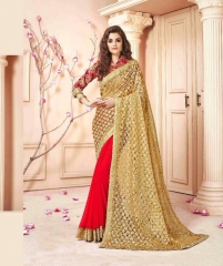 SAROJ SAREES CINDRELLA DESIGNER PARTY WEAR SAREES COLLECTION WHOLESALE BEST RATE BY GOSIYA EXPORTS SURAT