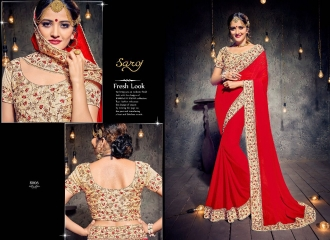 SAROJ SAREES MISS WORLD 2 COLLECTION EMBROIDERED SAREES WHOLSALE SELLER BEST RATE BY GOSIYA EXPORTS SURAT (7)
