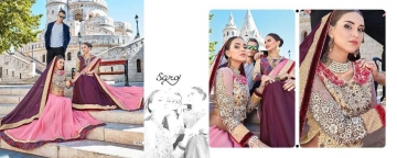 SAROJ TWIN SISTER 4 DYED DOUBLE BLOUSE DESIGNER WORK SAREES CATALOG WHOLESALE BETS RATE SURAT BY GOSIYA EXPORTS SURAT (1 (6)