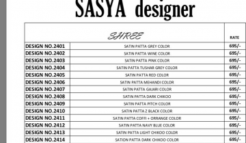 sasya designer shree saree catalog WHOLESALE RATE (16)