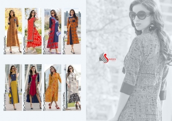 SAWAN TEXTILE JESSICA VOL 1 HEAVY RAYON PRINTS PARTY WEAR KURTIS BUY AT WHOLESALE (2)