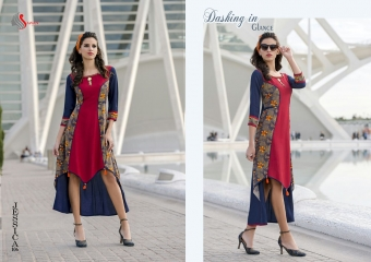 SAWAN TEXTILE JESSICA VOL 1 HEAVY RAYON PRINTS PARTY WEAR KURTIS BUY AT WHOLESALE (4)
