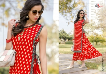 SAWAN TEXTILE JESSICA VOL 1 HEAVY RAYON PRINTS PARTY WEAR KURTIS BUY AT WHOLESALE (8)