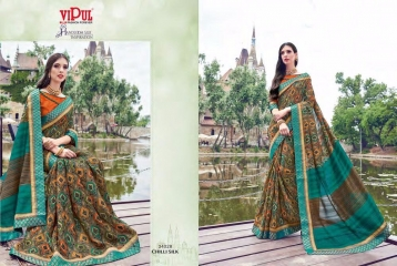 SERIES 34011 BY VIPUL FASHION CHILLI SILK SAREES DIWALI FESTIVAL COLLECTION WHOLESALE BEST ARTE BY GOSIYA EXPORTS SURAT (166)