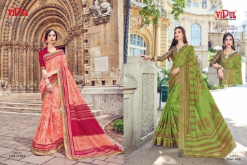 SERIES 34011 BY VIPUL FASHION CHILLI SILK SAREES DIWALI FESTIVAL COLLECTION WHOLESALE BEST ARTE BY GOSIYA EXPORTS SURAT (173)