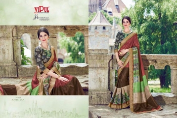 SERIES 34011 BY VIPUL FASHION CHILLI SILK SAREES DIWALI FESTIVAL COLLECTION WHOLESALE BEST ARTE BY GOSIYA EXPORTS SURAT (175)