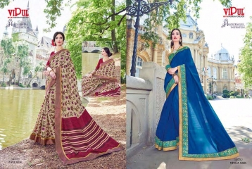 SERIES 34011 BY VIPUL FASHION CHILLI SILK SAREES DIWALI FESTIVAL COLLECTION WHOLESALE BEST ARTE BY GOSIYA EXPORTS SURAT (176)