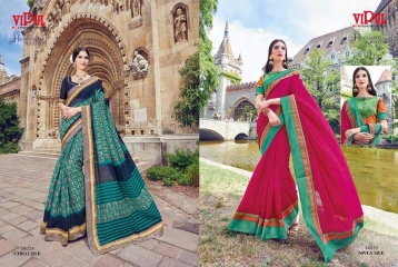 SERIES 34011 BY VIPUL FASHION CHILLI SILK SAREES DIWALI FESTIVAL COLLECTION WHOLESALE BEST ARTE BY GOSIYA EXPORTS SURAT (177)