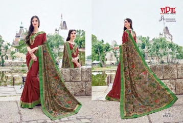 SERIES 34011 BY VIPUL FASHION CHILLI SILK SAREES DIWALI FESTIVAL COLLECTION WHOLESALE BEST ARTE BY GOSIYA EXPORTS SURAT (178)