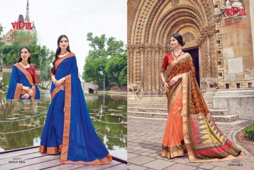 SERIES 34011 BY VIPUL FASHION CHILLI SILK SAREES DIWALI FESTIVAL COLLECTION WHOLESALE BEST ARTE BY GOSIYA EXPORTS SURAT (179)