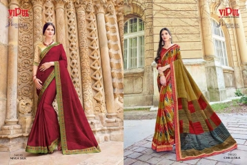 SERIES 34011 BY VIPUL FASHION CHILLI SILK SAREES DIWALI FESTIVAL COLLECTION WHOLESALE BEST ARTE BY GOSIYA EXPORTS SURAT (183)
