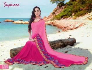 SEYMORE BY SUMMER 17 WHOLESALE GEORGETTE PRINTS SAREES BY SEYMORE BEST RATE (11)