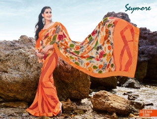 SEYMORE BY SUMMER 17 WHOLESALE GEORGETTE PRINTS SAREES BY SEYMORE BEST RATE (15)