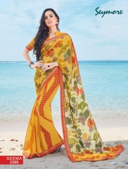 SEYMORE BY SUMMER 17 WHOLESALE GEORGETTE PRINTS SAREES BY SEYMORE BEST RATE (16)
