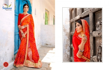 Seymore saree Chunariya Vol 2 Bandhani Leheriya Saree catalo WHOLESALE BEST RATE (1)