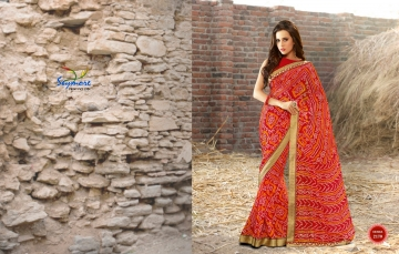 Seymore saree Chunariya Vol 2 Bandhani Leheriya Saree catalo WHOLESALE BEST RATE (10)