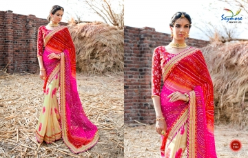 Seymore saree Chunariya Vol 2 Bandhani Leheriya Saree catalo WHOLESALE BEST RATE (11)