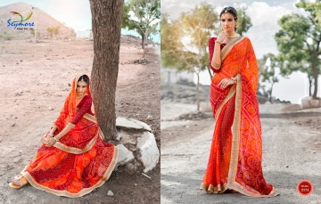 Seymore saree Chunariya Vol 2 Bandhani Leheriya Saree catalo WHOLESALE BEST RATE (14)