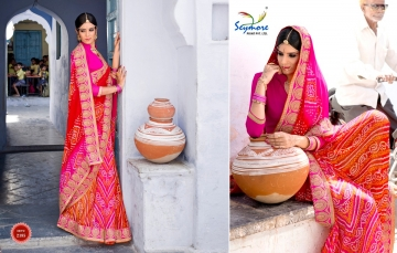 Seymore saree Chunariya Vol 2 Bandhani Leheriya Saree catalo WHOLESALE BEST RATE (2)