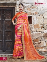 Seymore saree Chunariya Vol 2 Bandhani Leheriya Saree catalo WHOLESALE BEST RATE (5)