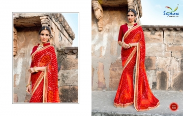 Seymore saree Chunariya Vol 2 Bandhani Leheriya Saree catalo WHOLESALE BEST RATE (6)