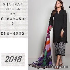SHAHNAZ 4 BY SIBAYASH PURE COTTON SILKS SHIRT (1)