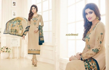 SHAMITA AASHIRWAD CREATION FANCY HEAVY EMBROIDERY WORK SALWAR SUITS WHOLESALE BEST RATE BY GOSIYA EXPORT SURAT (3)