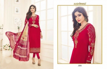 SHAMITA AASHIRWAD CREATION FANCY HEAVY EMBROIDERY WORK SALWAR SUITS WHOLESALE BEST RATE BY GOSIYA EXPORT SURAT (4)