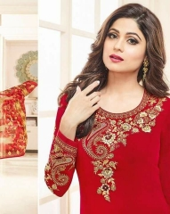 SHAMITA AASHIRWAD CREATION FANCY HEAVY EMBROIDERY WORK SALWAR SUITS WHOLESALE BEST RATE BY GOSIYA EXPORT SURAT