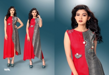 SHANAYA VOL-3 KURTIS BY MODESI DESIGNER WITH WORK KURTIS ARE AVAILABLE AT WHOLESALE BESST RATE BY GOSIYA EXPORTS (18)