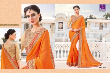 SHANGRILA EXORA COLLECTION DESIGNER PARTY WEAR SAREES COLLECTION WHOLESALE SUPPLIER BEST RATE BY GOSIYA EXPORTS SURAT (10)