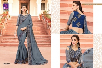 SHANGRILA EXORA COLLECTION DESIGNER PARTY WEAR SAREES COLLECTION WHOLESALE SUPPLIER BEST RATE BY GOSIYA EXPORTS SURAT (11)