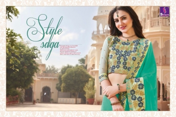 SHANGRILA EXORA COLLECTION DESIGNER PARTY WEAR SAREES COLLECTION WHOLESALE SUPPLIER BEST RATE BY GOSIYA EXPORTS SURAT (12)