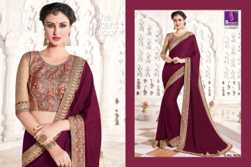SHANGRILA EXORA COLLECTION DESIGNER PARTY WEAR SAREES COLLECTION WHOLESALE SUPPLIER BEST RATE BY GOSIYA EXPORTS SURAT (13)