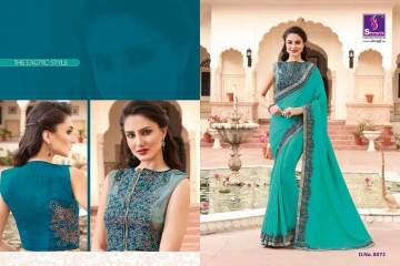 SHANGRILA EXORA COLLECTION DESIGNER PARTY WEAR SAREES COLLECTION WHOLESALE SUPPLIER BEST RATE BY GOSIYA EXPORTS SURAT (14)