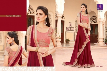 SHANGRILA EXORA COLLECTION DESIGNER PARTY WEAR SAREES COLLECTION WHOLESALE SUPPLIER BEST RATE BY GOSIYA EXPORTS SURAT (2)