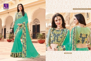 SHANGRILA EXORA COLLECTION DESIGNER PARTY WEAR SAREES COLLECTION WHOLESALE SUPPLIER BEST RATE BY GOSIYA EXPORTS SURAT (3)