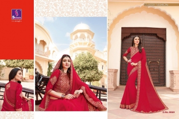 SHANGRILA EXORA COLLECTION DESIGNER PARTY WEAR SAREES COLLECTION WHOLESALE SUPPLIER BEST RATE BY GOSIYA EXPORTS SURAT (4)