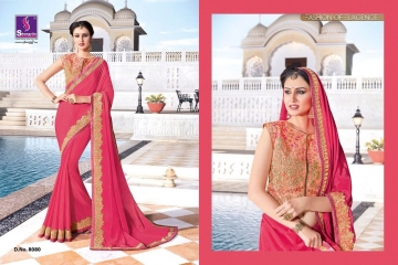 SHANGRILA EXORA COLLECTION DESIGNER PARTY WEAR SAREES COLLECTION WHOLESALE SUPPLIER BEST RATE BY GOSIYA EXPORTS SURAT (5)