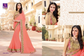 SHANGRILA EXORA COLLECTION DESIGNER PARTY WEAR SAREES COLLECTION WHOLESALE SUPPLIER BEST RATE BY GOSIYA EXPORTS SURAT (6)