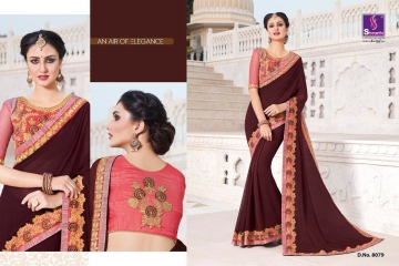 SHANGRILA EXORA COLLECTION DESIGNER PARTY WEAR SAREES COLLECTION WHOLESALE SUPPLIER BEST RATE BY GOSIYA EXPORTS SURAT (8)