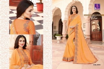 SHANGRILA EXORA COLLECTION DESIGNER PARTY WEAR SAREES COLLECTION WHOLESALE SUPPLIER BEST RATE BY GOSIYA EXPORTS SURAT (9)