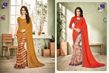 SHANGRILA INOX VOL 2 GEORGETTE PRINTS SAREES CASUAL WEAR BEST RATE BY GOSIYA EXPORTS SURAT (2)
