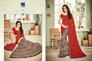 SHANGRILA INOX VOL 2 GEORGETTE PRINTS SAREES CASUAL WEAR BEST RATE BY GOSIYA EXPORTS SURAT (3)
