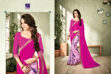 SHANGRILA INOX VOL 2 GEORGETTE PRINTS SAREES CASUAL WEAR BEST RATE BY GOSIYA EXPORTS SURAT (5)